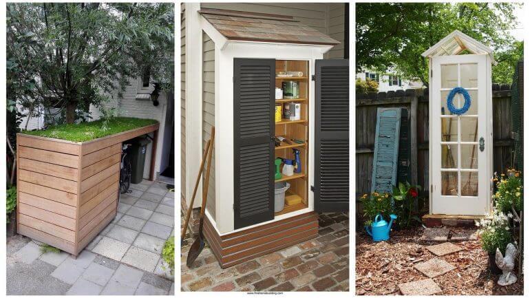 17 jedinečných nápadov pre malé sklady na vašu záhradu, dom a chatu