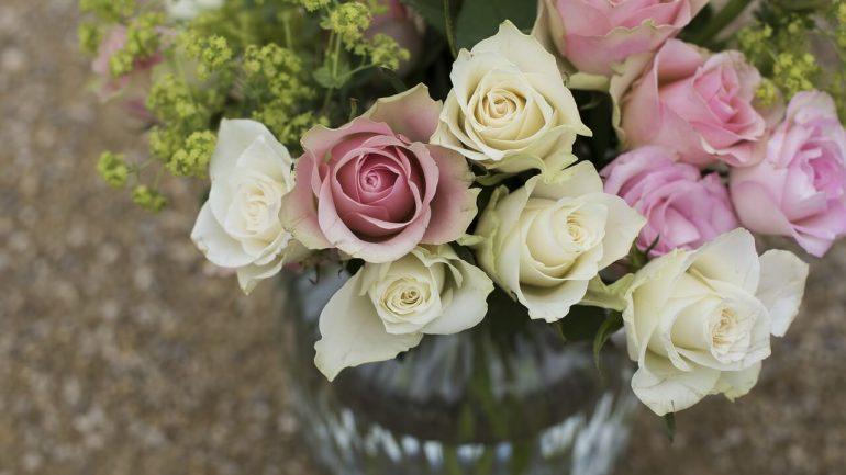 Krásne ruže vo váze