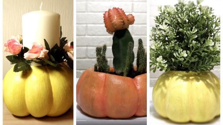 Video: Vyrobte si kvetináč, vázu alebo svietnik v tvare tekvice