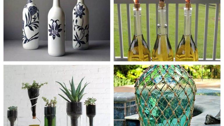 Perfektné tipy, ako recyklovať staré fľaše z vína