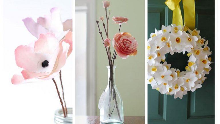 Urobte si krásne kvety z papiera
