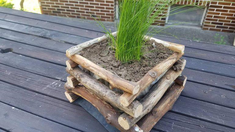 Vyrobte si úžasný drevený kvetináč zo zvyškov