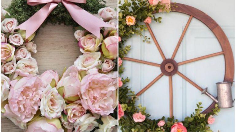 10 pekných jarných vencov, ktorými vyzdobíte nielen dvere