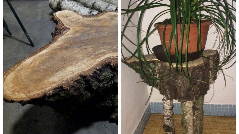 stolík z brezy