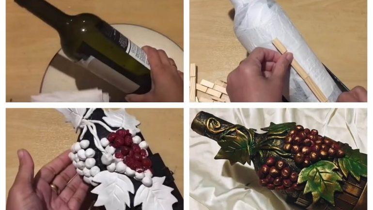 Krásna dekoratívna fľaša: Vyrobte si originálny darček