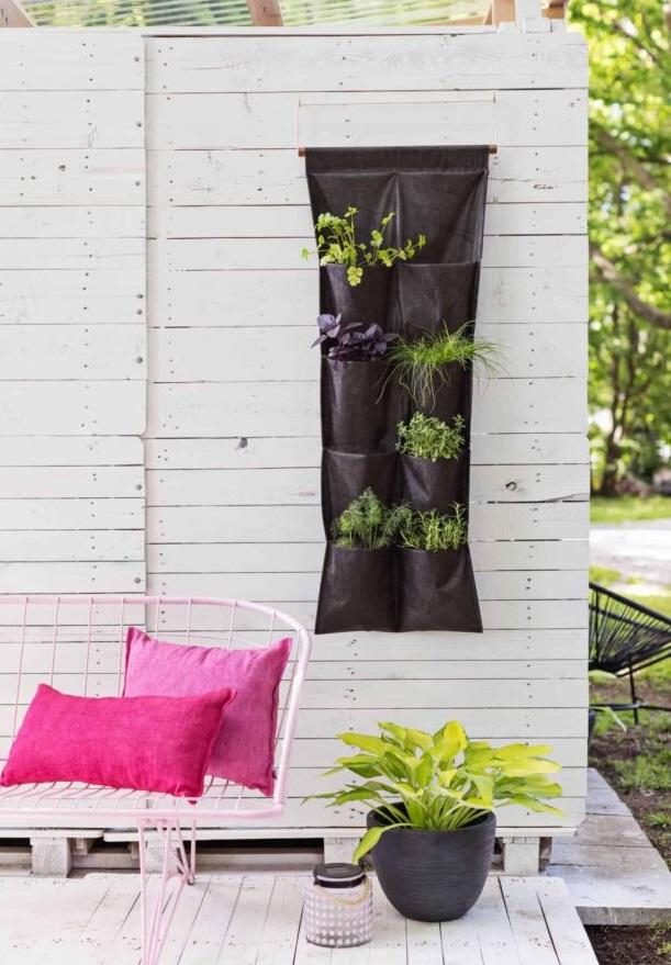 záhrada z textílie