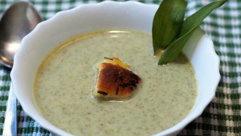 Výživná polievka z medvedieho cesnaku