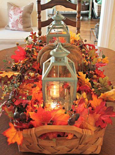 Krásna jesenná dekorácia