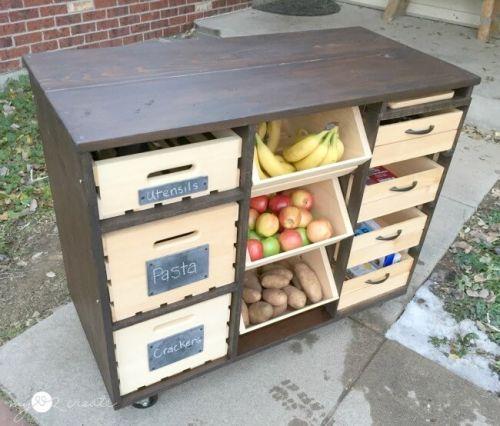 Stolík na ovocie a zeleninu