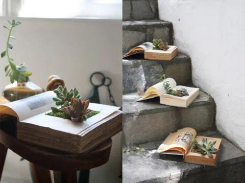 Kvetináče zo starých kníh