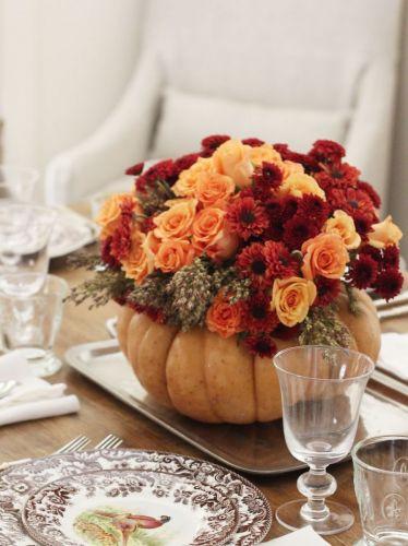 Tekvica a sušené kvety