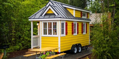 Žltý domček na kolesách