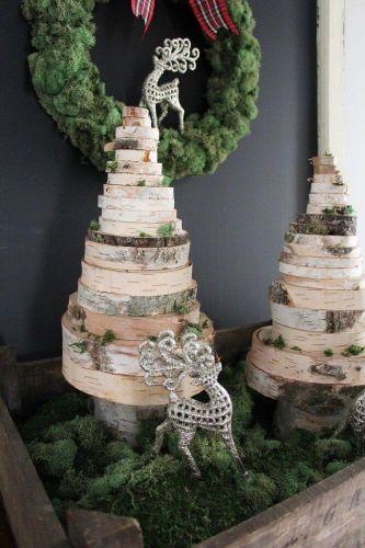 Drevené vianočné stromčeky