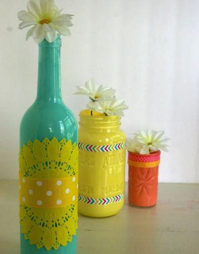Pekné farebné vázy
