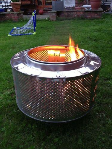 Na založenie ohniska môže poslúžiť i bubon z práčky.