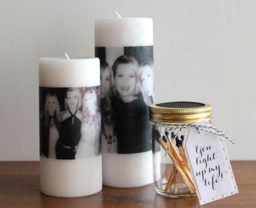Sviečka s fotografiou našej mamy