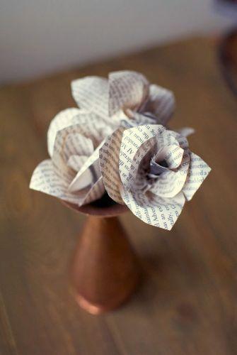 Ruže z novinového papiera