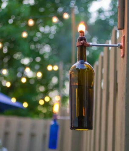 Lampa z fľaše