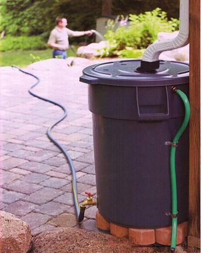 Šikovný nápad ako zbierať dažďovú vodu
