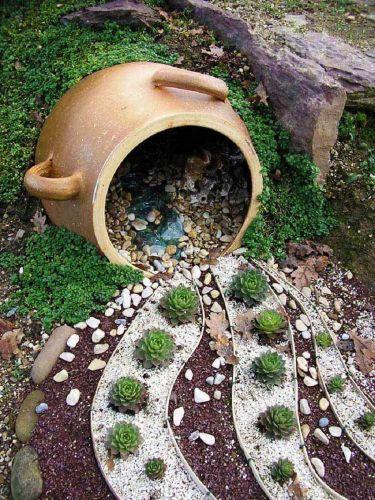 Kamienkové a sukulentné usporiadanie