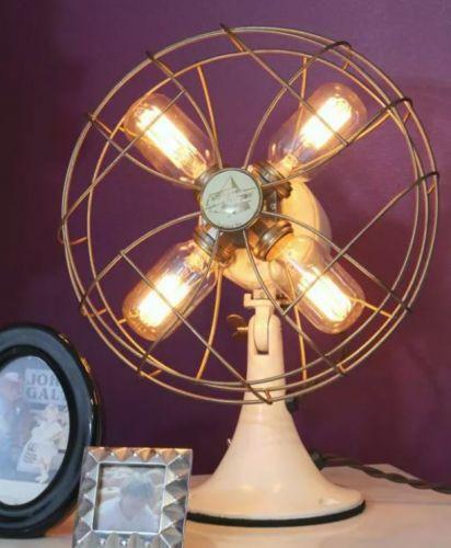 Lampa zo starého ventilátora.