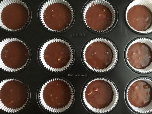 Recept na vynikajúce čokoládové muffiny.