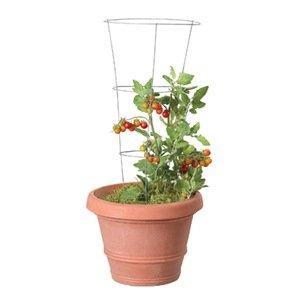 Kvetináč s mriežkou na paradajky